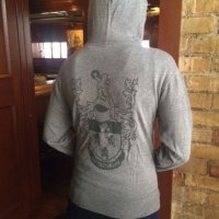 Women's Grey Full Zip Hoodie